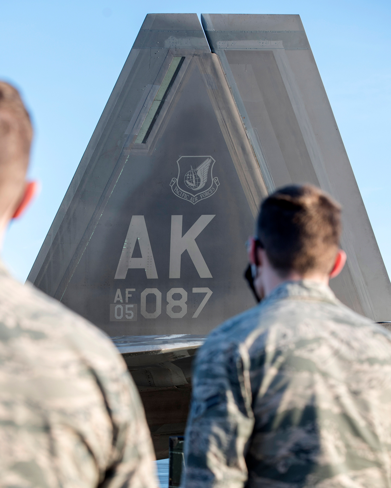 U.S. Airmen with the 673d Communications Squadron attend a 90th Fighter Squadron immersion at Joint Base Elmendorf-Richardson, Alaska, Sept. 29, 2020. The tour provided the Airmen with a behind-the-scenes experience of the operations in the 90th FS and showcased the 90th FS's mission that JBER's Airmen support. Leadership of the 90th FS hopes to expand the program in the future.